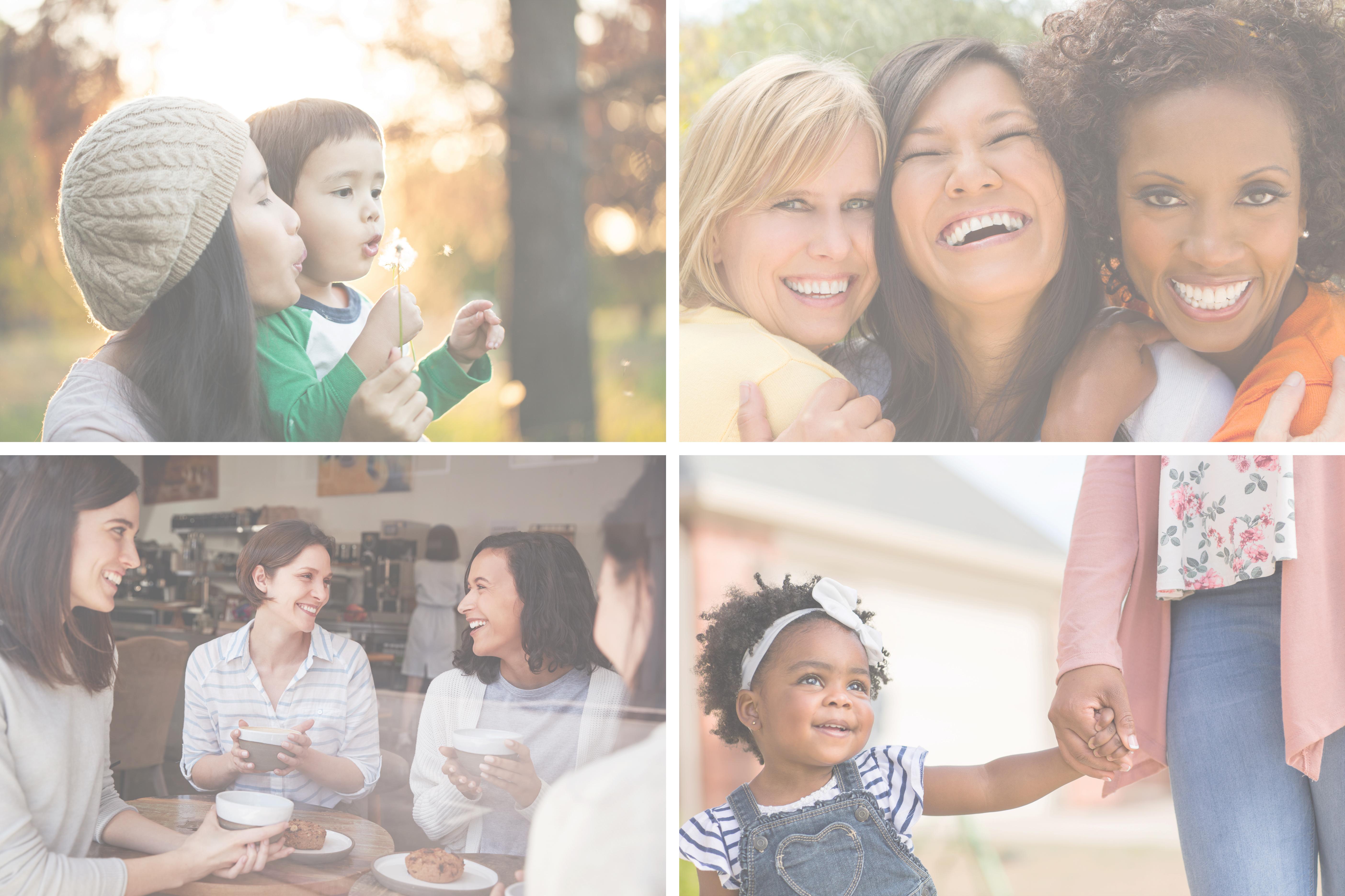 Moms together - collage